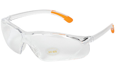 ALLEN SHOOTING GLASS CLEAR W/ORANGE