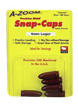 AZOOM SNAP CAPS 9MM 5/PK